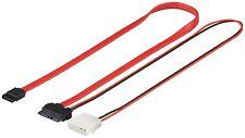 SATA slimline adaptador cable S-ATA 2in1 datos señal slim Line + adaptador de corriente 0,5m