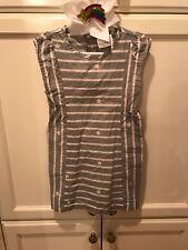 Hanna Andersson Girls Stars & Stripes Grey Not Smocked Dress Size 110 Us 5