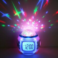 Musical Cot Mobile Nightlight Show Star Sky Projection Alarm Clock Thermometer