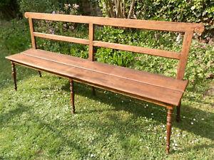 Sitzbank aus Rüster Holz, antik