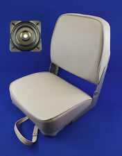 Quality Folding Grey Boat Helm Seat With Swivel Plate - Yacht Speed Boat