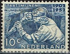 Netherlands Undergroung Coal Miner in Limburg stamp 1952