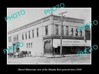 OLD LARGE HISTORIC PHOTO OF DASSEL MINNESOTA, THE MURPHY BROTHERS STORE c1910