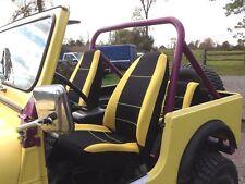 Jeep Wrangler Neoprene Front & Rear Full Set Seat Cover Yellow 1990-92 YJ 12792