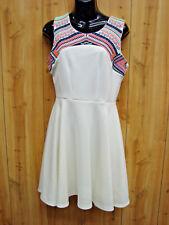 JODI KRISTOPHER OFF White Aztec Print Dress SIZE 7