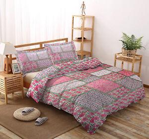 Indian Cotton Floral Design Jaipuri Rajai Reversible Quilt With 2 Pillow Covers
