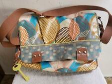 Fossil Coated Floral KeyPer Crossbody Large Laptop Messenger Shoulder Bag