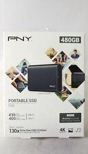 PNY Elite 480GB Portable SSD Black PSD1CS1050-480-RB-PDQ