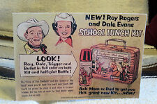 Roy Rogers & Dale Evans School Lunch Box Ad Poster Tabletop Display Standee 10.5