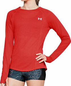 Under Armour Streaker Womens Long Sleeve Running Top - Red