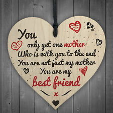 Only Get One Mother Wooden Hanging Heart Sign Mothers Day Gifts Present