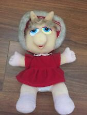"Vintage 1987 Plush Christmas Miss Piggy Doll Muppet Babies 10"" McDonalds Muppets"