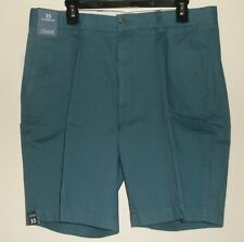 *NWT* ROUND TREE & YORKE CASUALS~ MENS REAL TEAL FLAT FRONT SHORTS~ 35