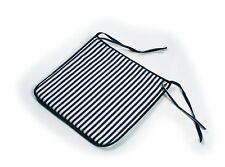 Striped Chair Pad Cushion Marine Denim Ties Sailor Nautical Soft Comfortable