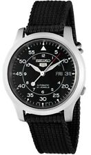 Seiko Men's SNK809 Seiko 5 Automatic Stainless Steel Watch with Black Canvas Str