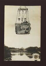 Lancashire Lancs BOLTON Greetings KGV & Queen Hot Air Balloon 1911 RP PPC