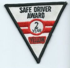 Yellow Freight truck driver patch 2 year safe driving award 3 X 3-1/4