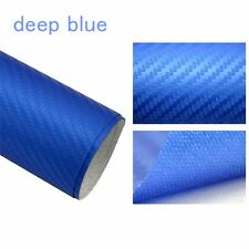 "Carbon Fiber Vinyl Auto Film Wrap Car Sticker Body Sheet Roll 12"" x 50""inch blue"