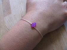 Opal hamsa bracelet, fuchsia opal bracelet, opal bracelet, sterling silver chain