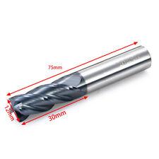 HRC50 Hartmetallfräser 12mm Shaft 75mm Schaftfräser Fräsersatz Fräser 4 Flöten