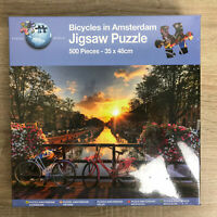 New & Sealed Grafix 500 Piece Jigsaw Puzzle 'Bicycles In Amsterdam'