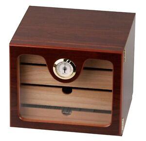 Humidor Schrank Cabinet braun ca 60 Zigarren 4 x Acrylpolymere statt 165,- €