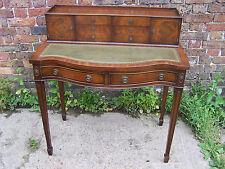 Vintage Bonheur du jour ladies writing desk, Green leather top.  c1960