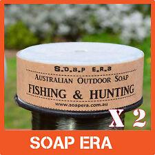 2 x Aussie Fishing Soap-100% Coconut oil Castile Outdoor Soap work in salt water