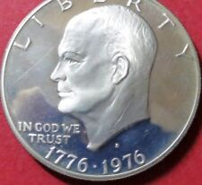""">>1976-s  SILVER """"PROOF"""" EISENHOWER  BiCENTENNIAL DOLLAR, T2 COIN, UNCIRCULATED"""