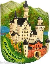 Neuschwanstein Castle Bavaria Germany 3D Magnet Refrigerator  Holiday Souvenir