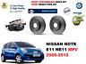 para NISSAN aviso E11 2006-2012 Delante Rendimiento Discos de freno ventilados +