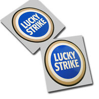 Lucky Strike Motorcycle sponsor graphics decals stickers x 2PCS blue version