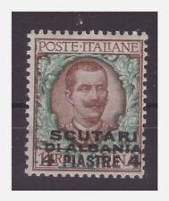 SCUTARI D'ALBANIA 1909  -     Piastre 4  su  Lire 1   NUOVO **