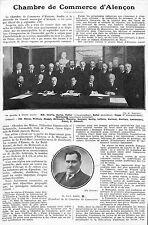 ALENCON CHAMBRE DE COMMERCE PAUL BOHIN PRESIDENT ARTICLE PRESSE 1927