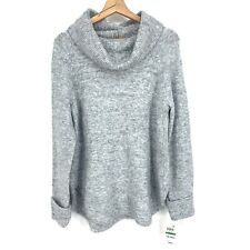 Size Large L $49.50 Style & Co Cowl Neck Turtle Neck Knit Sweater Gray C057