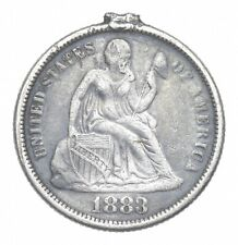 1883 Seated Liberty Dime Engraved Love Token - Walker Coin Collection *614