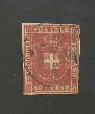 Tuscany #21a F USED - 1860 40c Coat Of Arms - SCV $440.00
