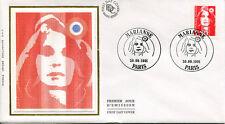 FRANCE FDC - 2720 1 MARIANNE DE BRIAT - 30 Septembre 1991 - LUXE sur soie