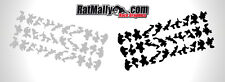 URBAN CAMO GRAPHICS - CAMOUFLAGE DECALS STICKER PACK OF 120 VERY SMALL
