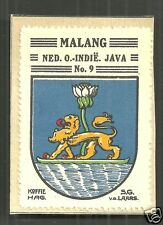 Malang Coat of Arms Java Indonesia ca 1925