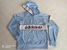 Mens Vintage Adidas Blue Spell Out Hoodie Sweatshirt Jumper size M