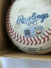 MLB Authenticated game used baseball Twins vs Indians August 7, 2018