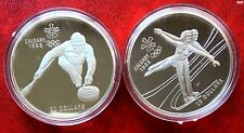 1987 Canada Two 20 Dollar Silver 1988 Calgary Olympic Games Silver Proof Coin