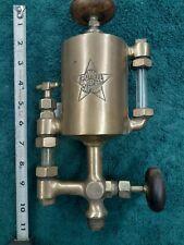 Powell'S 1 Pint Brass Oiler Hit Miss Steam Gas Engine Antique Powell