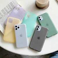 Genuine Silicone Ultra-thin Soft Phone Case for iPhone 11 Pro XS Max XR 7 8 Plus
