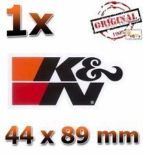 K&N Schwarz Black Noir 44x89mm - Aufkleber, Sticker, Autocollant, KN, K und N