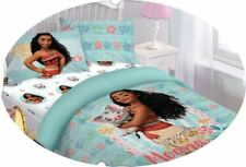 MOANA FLORAL BED SOFT COMFORTER SET DISNEY MOVIE CARTOONS COLLECTION