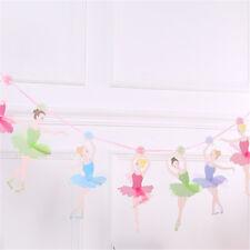 ballet girl dancer kids birthday party paper banner flags wedding bunting M&C