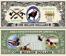 American Hunter Million Dollar Bill Collectible Fake Funny Money Novelty Note