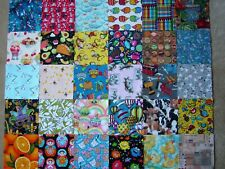 """110  NOVELTY FABRIC  5"""" Squares I SPY QUILT No Duplicates. Much more than 100."""